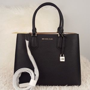 NWT Michael Kors large Adele black bag tote purse